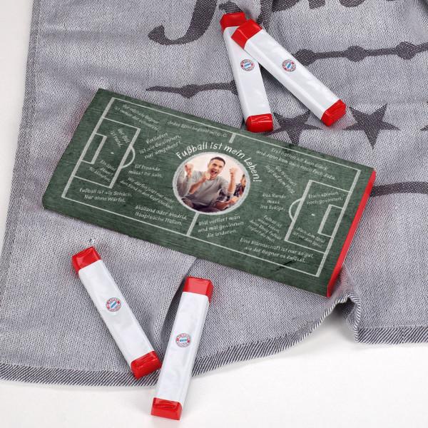 FC Bayern Schokoriegel mit eigener Foto Banderole