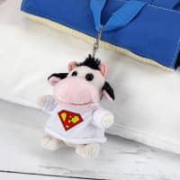 Personalisierter Schlüsselanhänger mit niedlicher Kuh