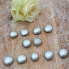 12 kleine Dekosteine in silber