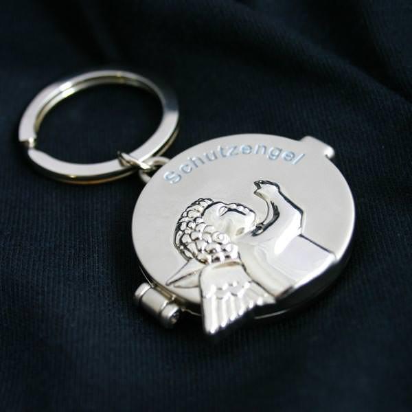 Schlüsselanhänger zugeklappt mit Schutzengel