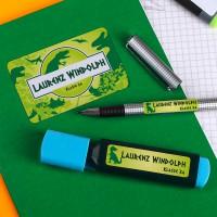Sticker-Set für Schulkinder im Saurier-Look
