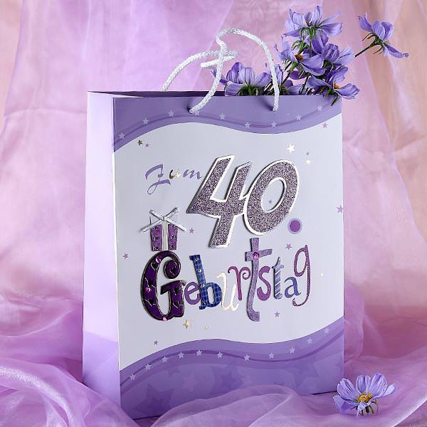 Geschenktüte zum 40. Geburtstag
