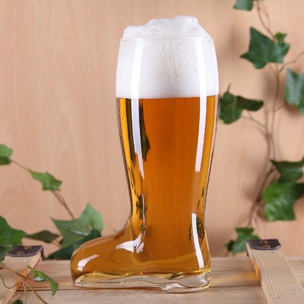 Glas-Bierstiefel für 800 ml