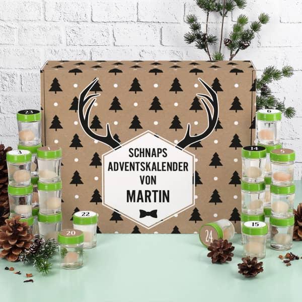 Individuellleckereien - Schnaps Adventskalender mit 24 Likören und bedruckter Pappbox - Onlineshop Geschenke online.de