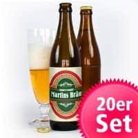 20er Bieraufkleber Klassik mit Wunschtexten