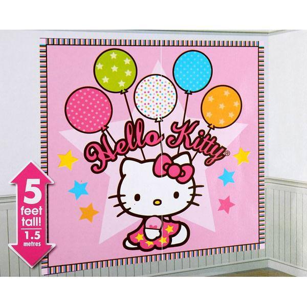 Hello Kitty Wandszenario
