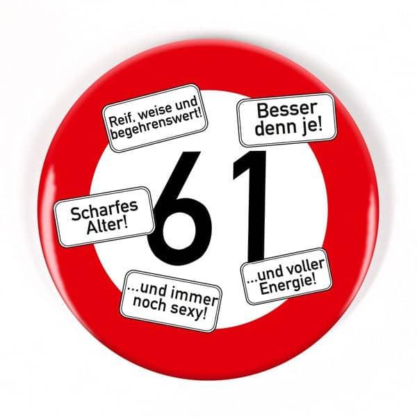 Button zum 61. Geburtstag