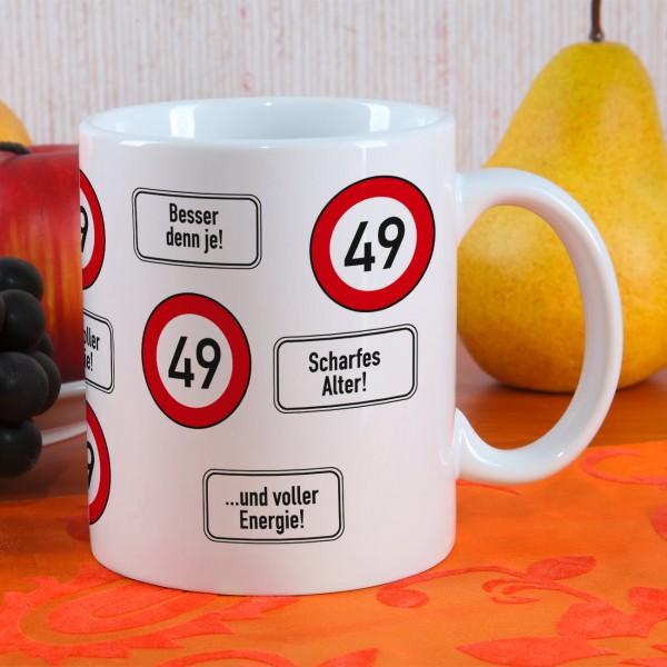 Kaffeetasse als Geschenk zum 49. Geburtstag