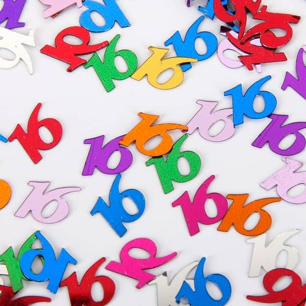 buntes Zahlenkonfetti
