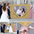 Herzbanner mit Ihrem Wunschfoto zum Ausschneiden zur Hochzeit