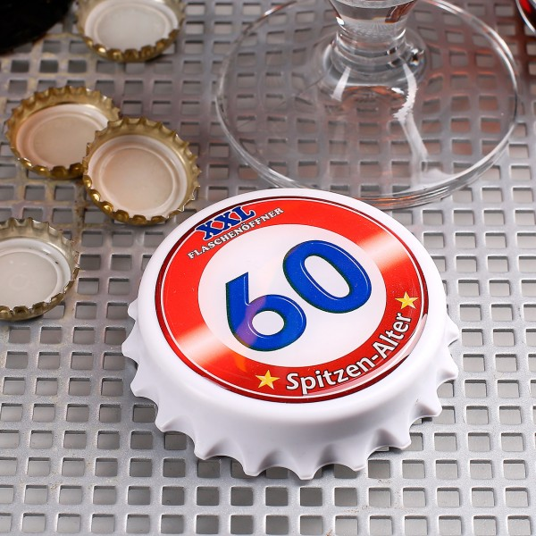 XXL Flaschenöffner mit Magneten zum 60. Geburtstag