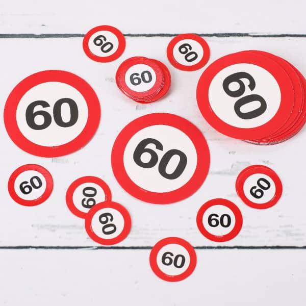 Tischkonfetti XL Verkehrsschilder 60