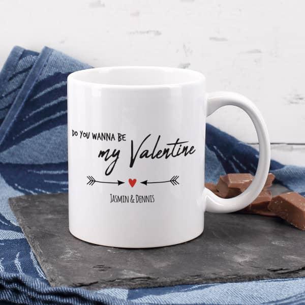 Tasse zum Valentinstag