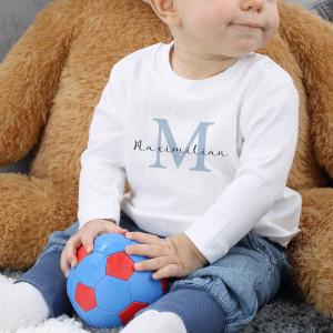 Babypullover mit Name und Initial
