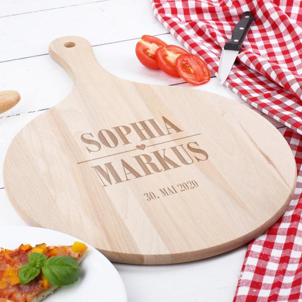 - Pizzabrett zur Hochzeit mit Namen und Datum - Onlineshop Geschenke online.de