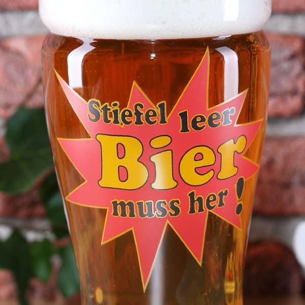 Bier-Stiefel - Detailansicht