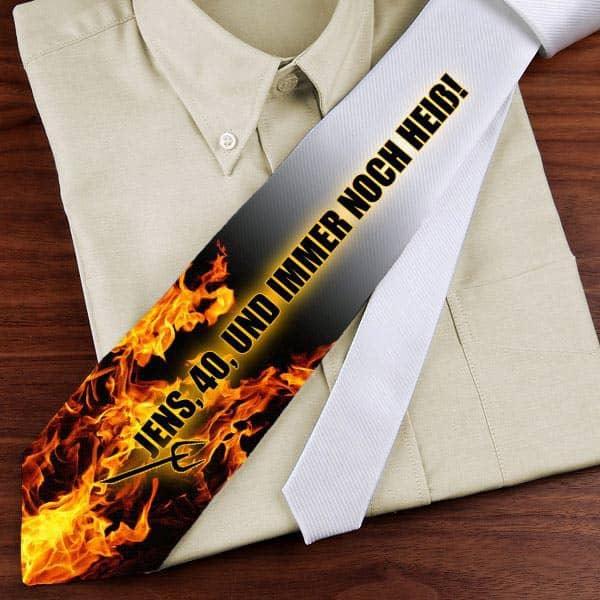 brennende Krawatte