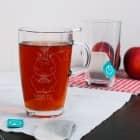 Knuddelhorn-Teeglas mit Wunschgravur