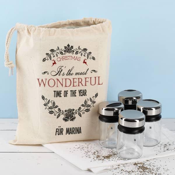 Streuer Set von WMF mit weihnachtlichem Geschenksack