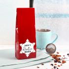 Früchtetee - Winter Wärmer - mit Name und Schneeflockenmotiv