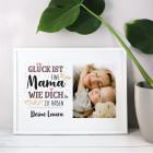 Weißer Bilderrahmen für die beste Mama mit Fotoaufdruck