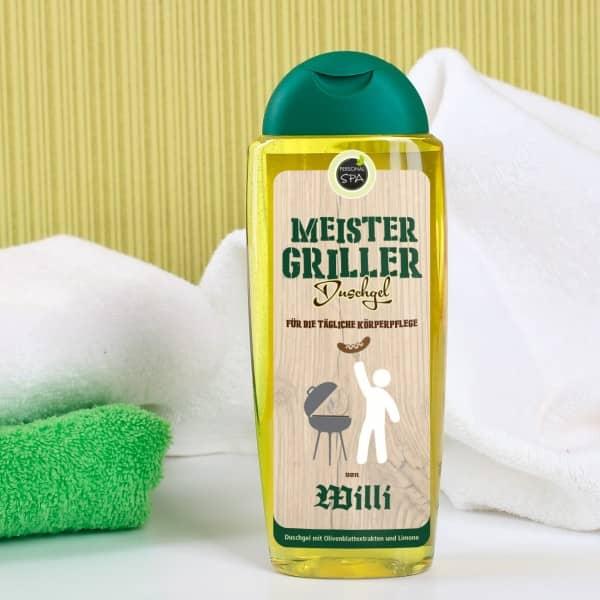 Duschgel mit Wunschname für Meister Griller