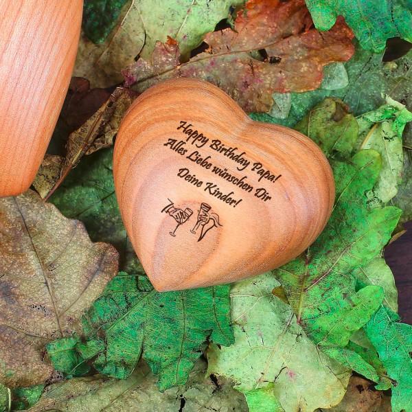 Kleines Holzherz mit persönlicher Gravur