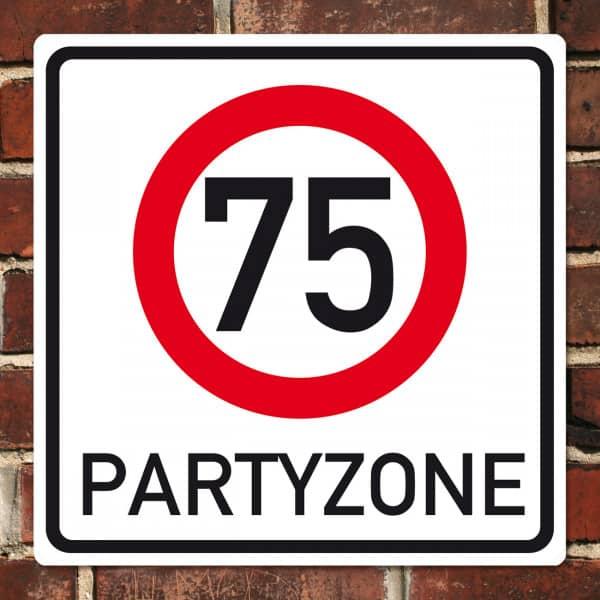 PVC-Banner zum 75. Geburtstag - Partyzone