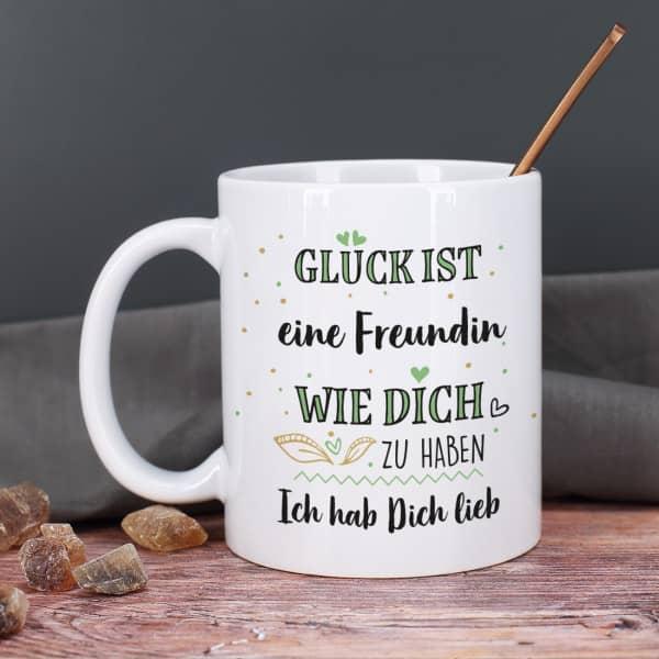 Glück ist ... - Tasse mit Ihren Wunschtexten