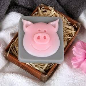 handgemachte Seife Glücksschwein