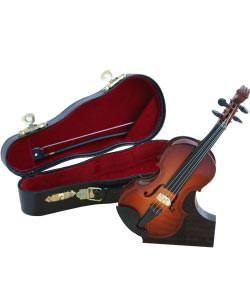 Kleine Geige mit Bogen, Ständer und Koffer
