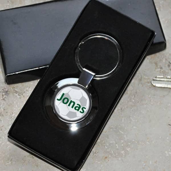 Schlüsselanhänger mit Name für Fußballer