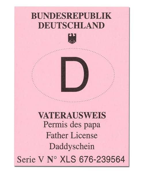 Vaterausweis zum Geburtstag