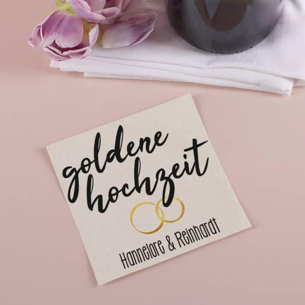 Goldene Hochzeit Flaschenetikett mit Namensaufdruck