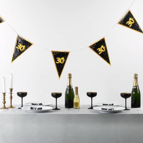 Wimpel Girlande zum 30. Geburtstag Star