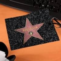 Brillenputztuch Walk of Fame mit Wunschnamen