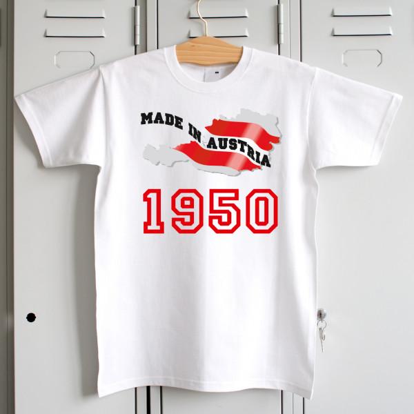 T Shirt Made in Austria für Österreicher zum Geburtstag