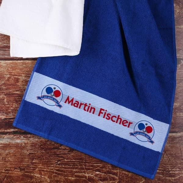 Individuellbadzubehör - Tischtennis Handtuch mit Name - Onlineshop Geschenke online.de