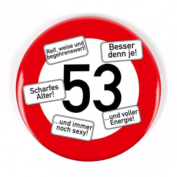 Button zum 53. Geburtstag