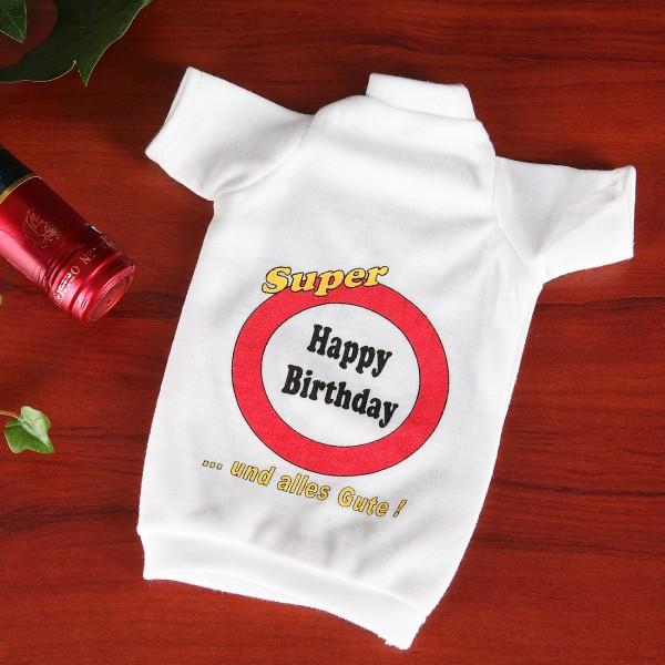 Flaschen T-Shirt Verkehrszeichen Happy Birthday