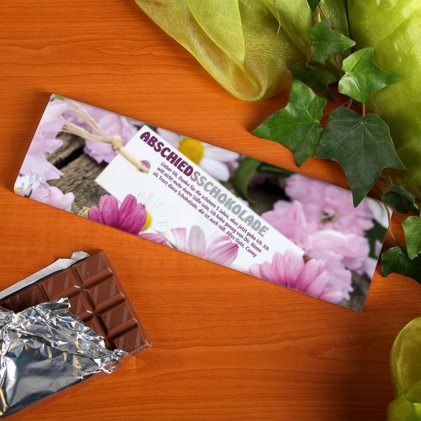 Abschieds - Schokolade mit Wunschtext
