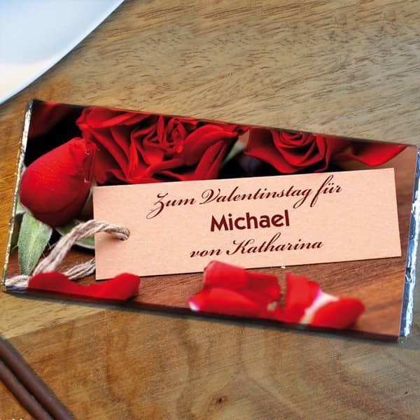 100g Schokolade zum Valentinstag