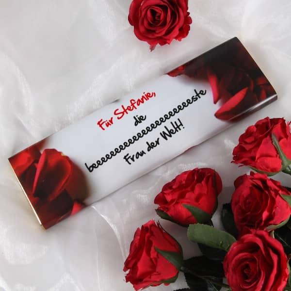 Persönliche Schokolade für die Frau zum Valentinstag 300g