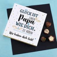 Glück ist, einen Papa wie dich zu haben - Lindt Pralinen mit Wunschtext