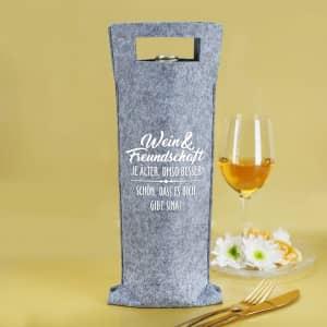 Flaschenbeutel für Wein personalisiert