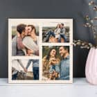 Bedrucktes Holzbrett mit Ihren 4 Lieblingsfotos