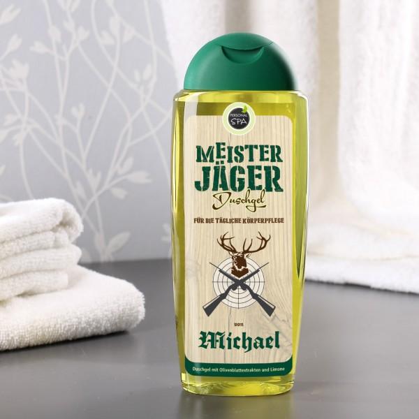 Duschgel mit Name für Meisterjäger