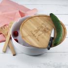 XXL Salatschüssel mit Brettchen und Besteck zur Hochzeit