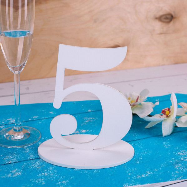 Zahl 5 für Ihre Tischdekoration