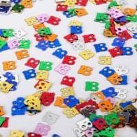 Deko für den Tisch - Zahlenkonfetti 18